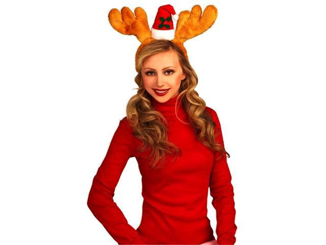 Antlers With Hat Costume Accessory Headband Brown