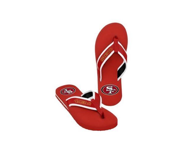 San Francisco 49Ers NFL Mens Team Color Contour Flip Flops Small 6-7