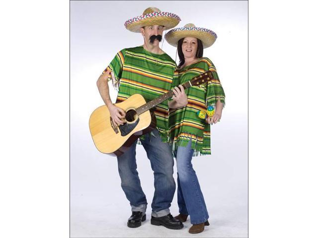 Mexican Serape & Hat Costume Adult Standard