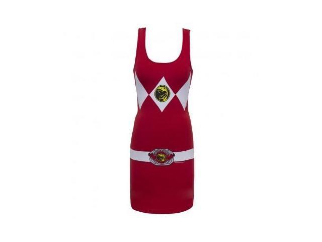 Power Rangers Red Power Ranger Adult Tank Dress Large