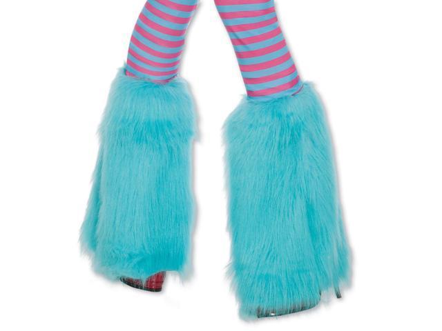 Fluffies Costume Leg Warmers Child: Aqua One Size