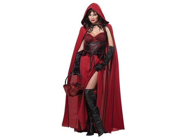 Sexy Dark Red Riding Hood Costume Adult Small 6-8