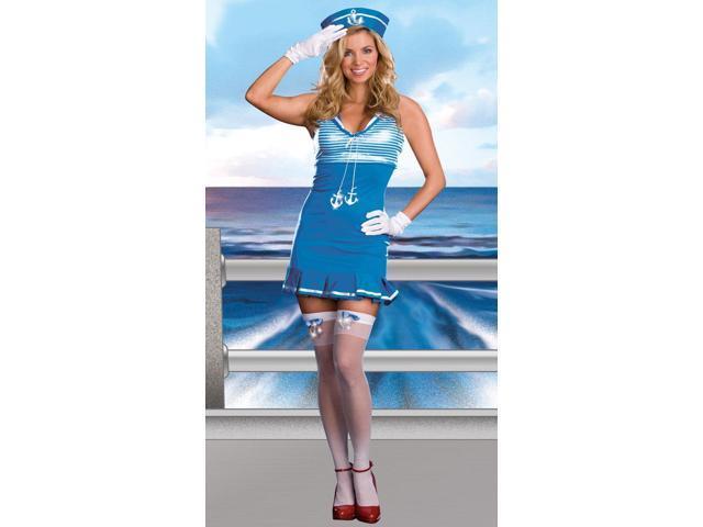 Sexy Nautical Cutie Sailor Dress Costume Adult Small