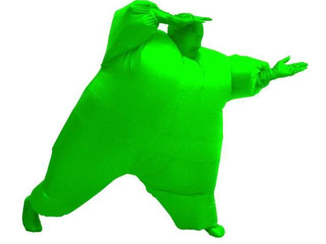 Inflatable Chub Suit Costume: Green One Size Fits Most