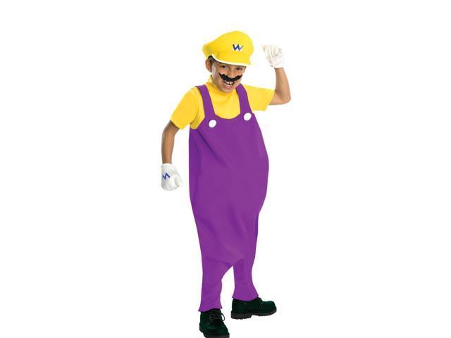 Super Mario Bros Deluxe Wario Costume Child Small