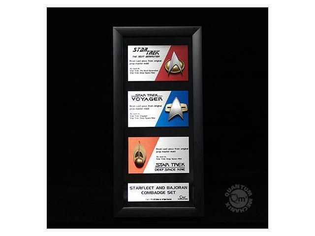 Star Trek Communications Badge Replica Artisan Edition Framed Set Of 3