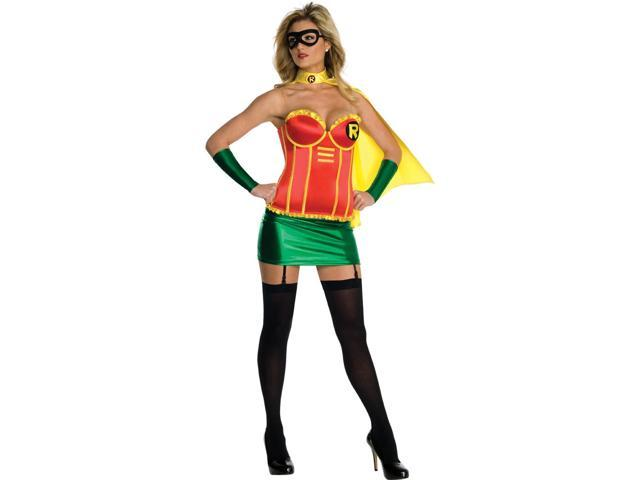 Justice League Sexy Robin Corset Costume Adult Small 2-6
