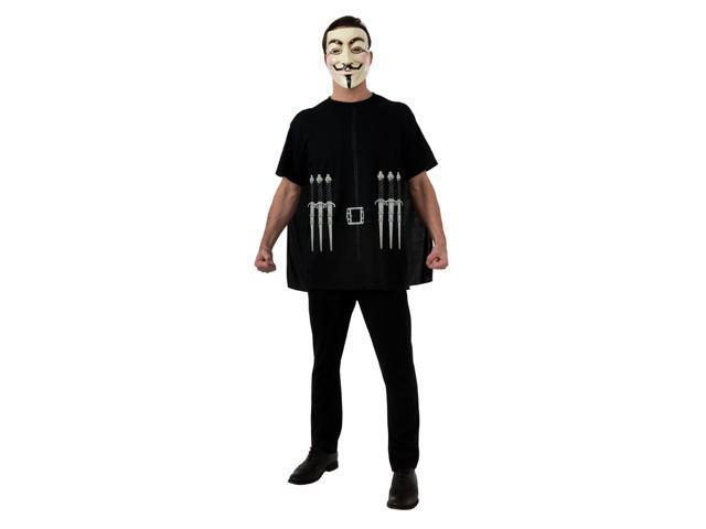 V For Vendetta Costume Set Adult X-Large