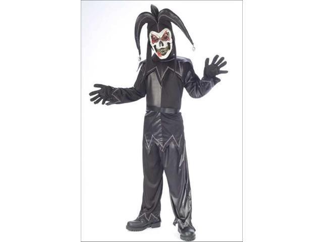 Twisted Jester Black Costume Child Medium