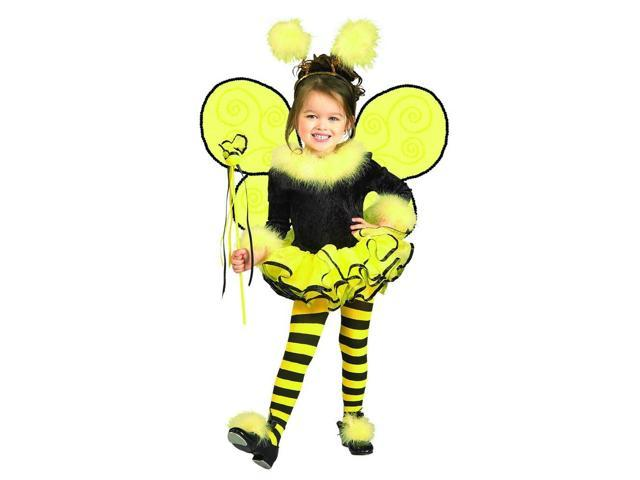 Bumblee Bee Leotard Tutu Dress Costume Child Toddler 2T-4T