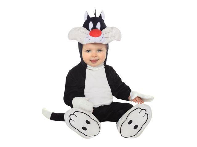 Looney Tunes Sylvester Romper Costume Infant Toddler 6-12 Months