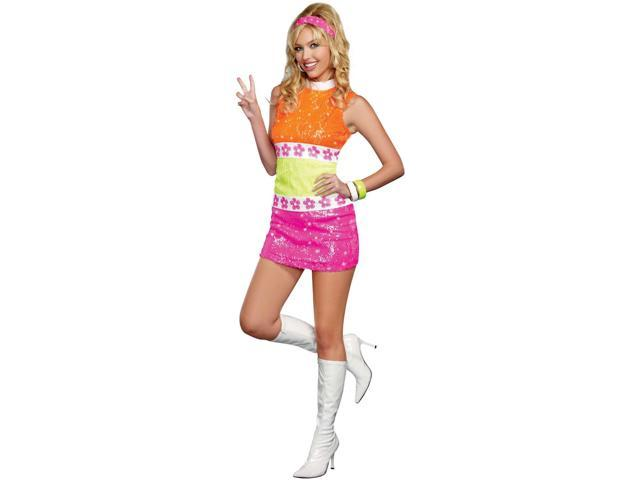 60's Flower Power Adult Costume Small