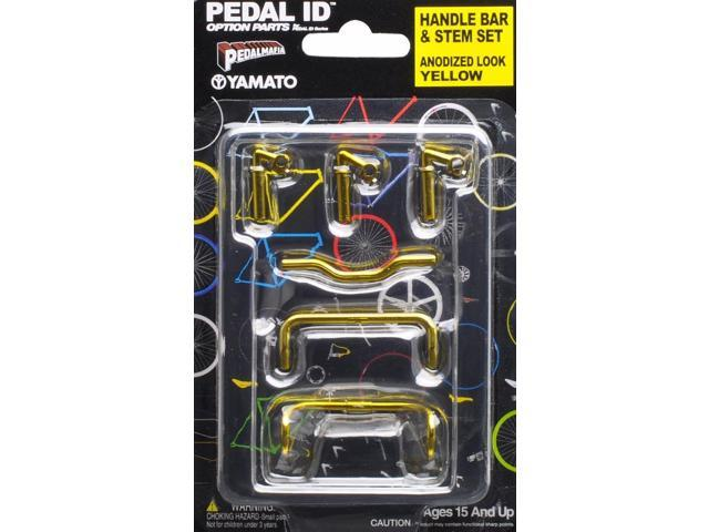 Pedal Id 1:9 Scale Bicycle: Handle Bar & Stem Set: Anodized Look Yellow