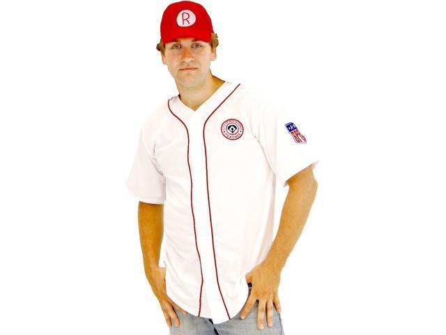 Deluxe City of Rockford Peaches Men's Costume Jersey Adult Small/Medium