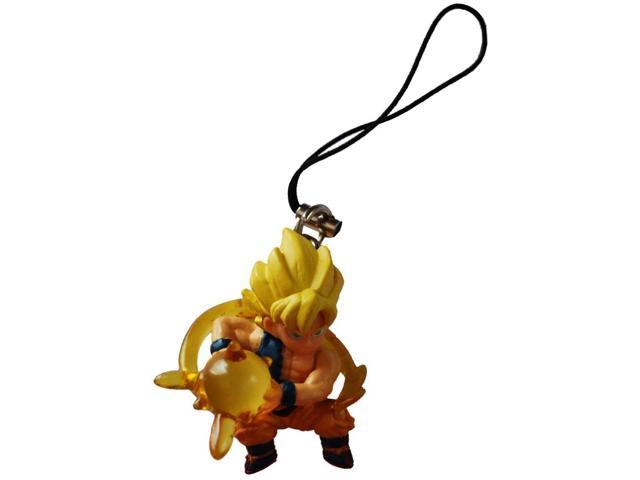 Dragon Ball Z Ripped Shirt Super Saiyan Goku Figure Phone Strap