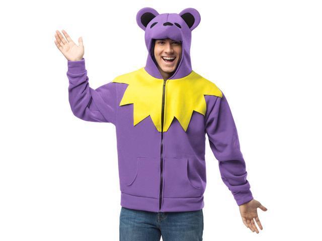 Grateful Dead Purple Bear Hoodie Adult Costume Plus