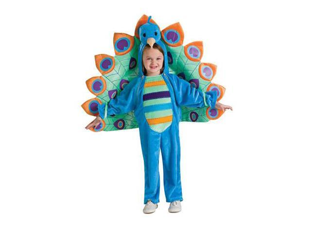 Colorful Peacock Jumpsuit Costume Baby Jumpsuit 0-6 Months