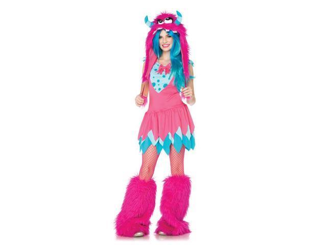 Mischief Monster Dress & Furry Hood Costume Junior Teen Small/Medium 10-12