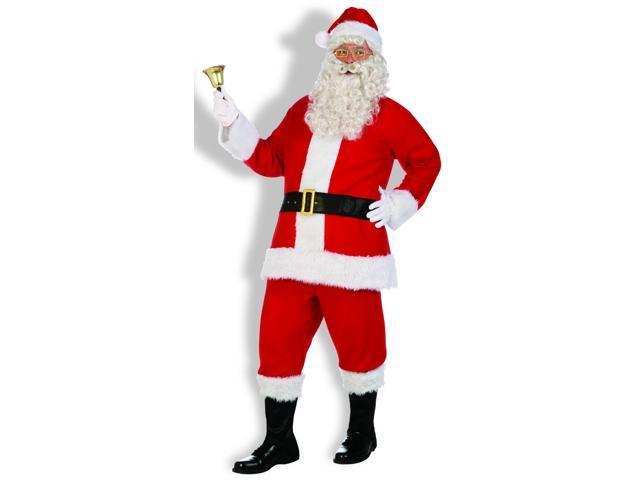 Santa Claus Costume Flannel Santa Suit X-Large
