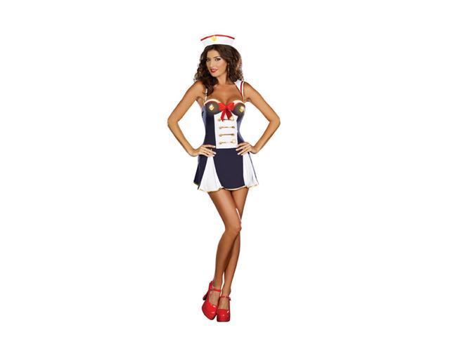 Sexy Hello Sailor Light Up Costume Dress Adult Large 10-14