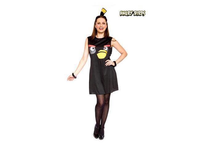 Angry Birds Sassy Black Bird Adult Costume Small