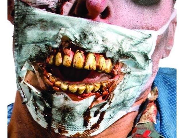 Zombie Dr.'s Mask w/ Molded Teeth Costume Accessory