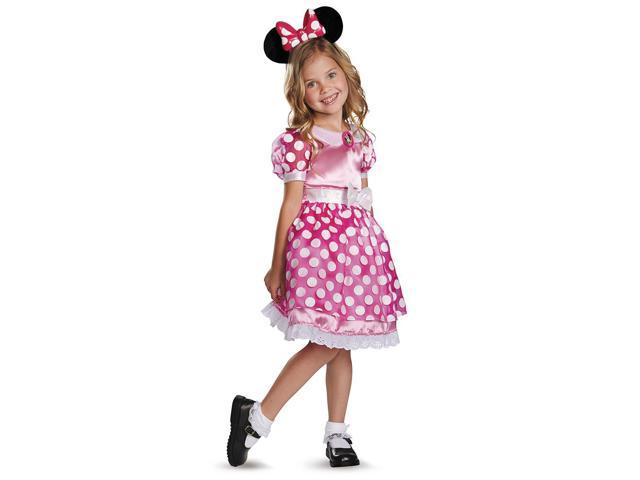 Mickey Mouse Clubhouse Disney LightUp Minnie Child Toddler Costume 4-6X