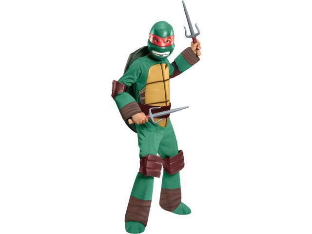 T.M.N.T. Deluxe Raphael Costume Child Large