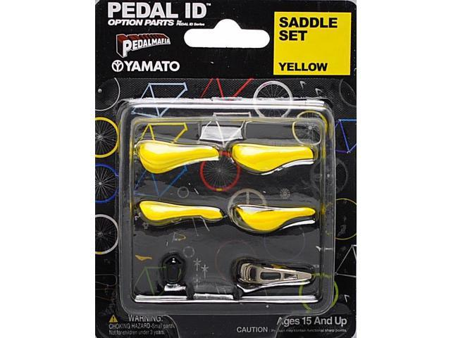 Pedal Id 1:9 Scale Bicycle: Saddle Set: Yellow