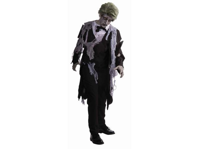 Zombie Formal Tuxedo Jacket w/Tattered Gauze Costume Adult Standard