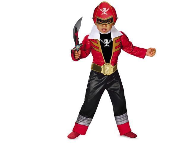 Super Megaforce Power Rangers Red Ranger Light-Up Toddler Costume 2T