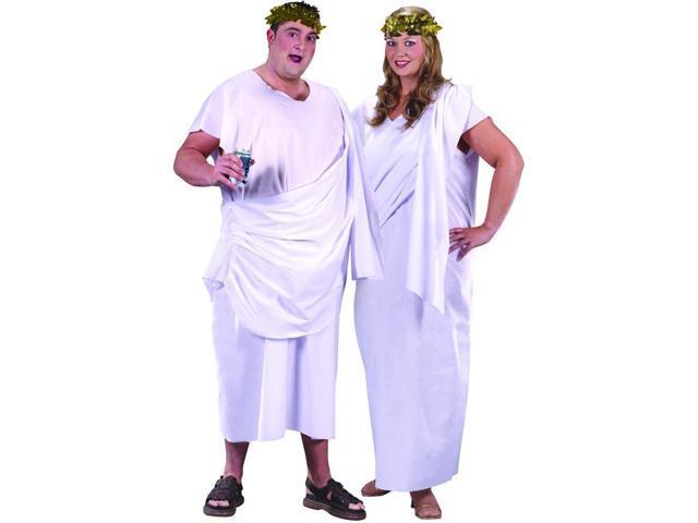White Roman Toga Robe Costume Adult Plus Size