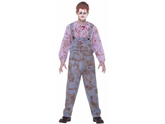 Scary Haunted Kid Costume Child Large