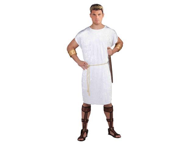 Adult Male White Greek God Costume Tunic One Size Fits Most