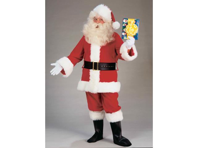 Santa Claus Adult Costume Deluxe Plush Suit X-Large