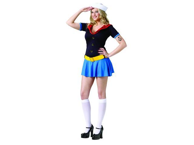 Popeye Sexy Sailor Costume Dress Adult Small/Medium 2-8