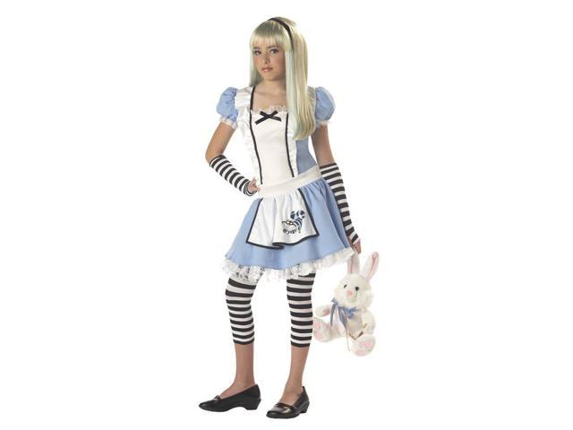 Sassy Alice Wonderland Girl Dress Costume Tween Large 10-12