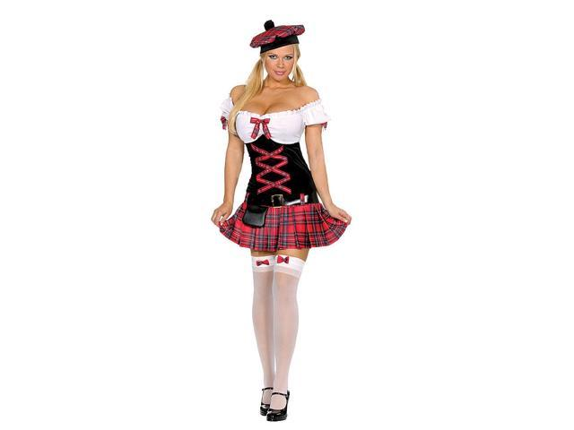 Sexy Sassy Lassie Scottish Girl Costume Adult Small