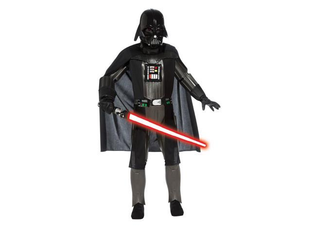 Star Wars Deluxe Darth Vader Molded Piece Costume & Mask Child Small 4-6