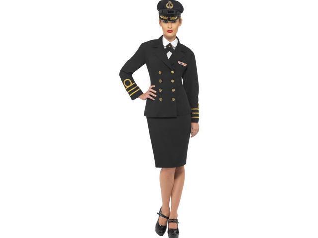 Navy Officer Female Pilot Adult Costume Large
