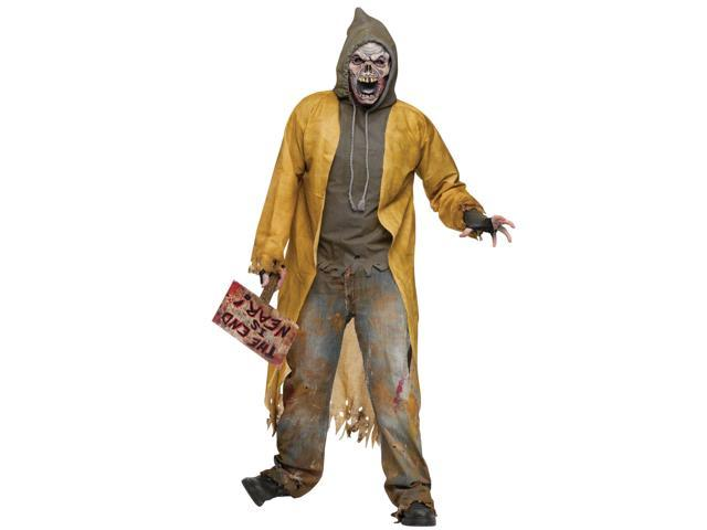 Homeless Street Zombie Costume Adult One Size Fits Most
