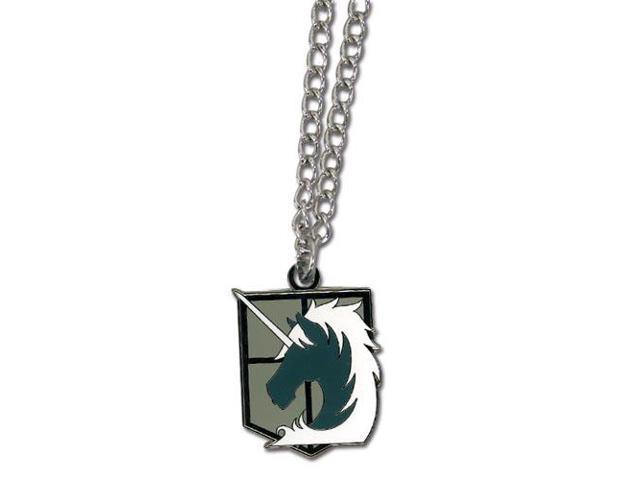 Attack On Titan Military Police Brigade Emblem Metal Necklace