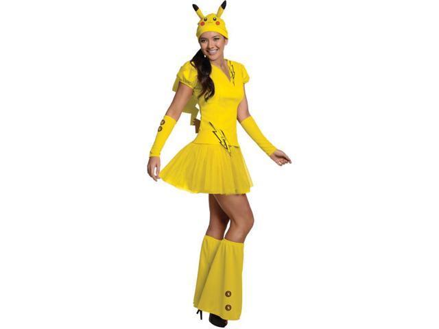 Pokemon Pikachu Dress Costume Adult Medium