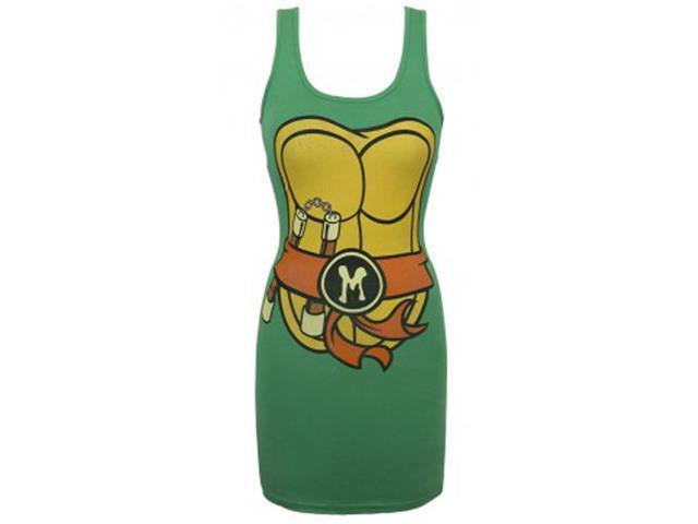 Teenage Mutant Ninja Turtles Michelangelo Costume Tank Dress Adult Large/X-Large