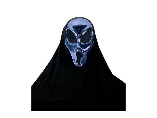Demons Of Metal Pewter Molded Costume Mask Blue