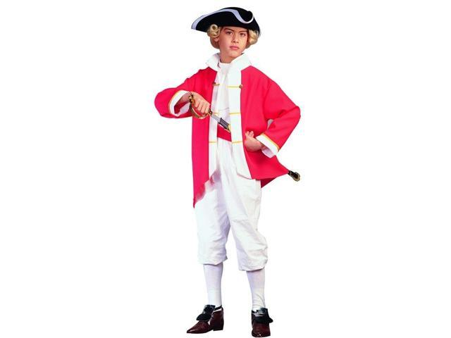 Colonial Captain Soldier Red Costume Child Small 4-6