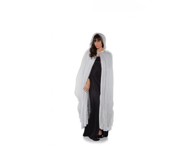 Ghost Adult Costume Full Length Tattered Grey Cape One Size