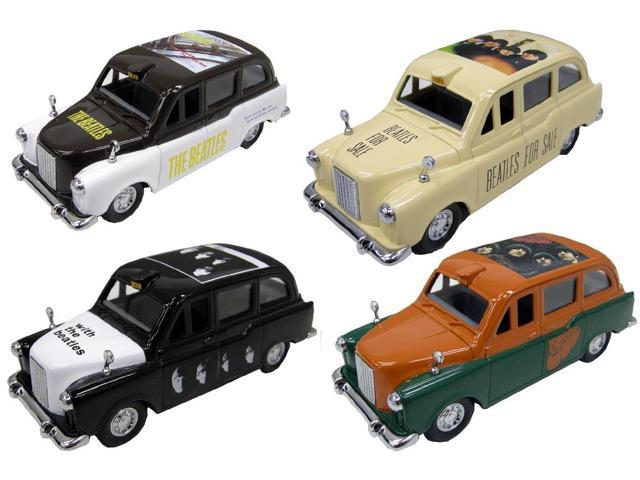 The Beatles Famous Covers Wave 2 Diecast 1:36 Scale Taxi Set Of 4