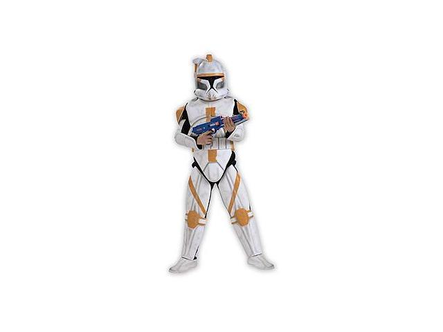 Star Wars Anime Dlx Eva Clonetrooper Commander Cody Kid Costume Small