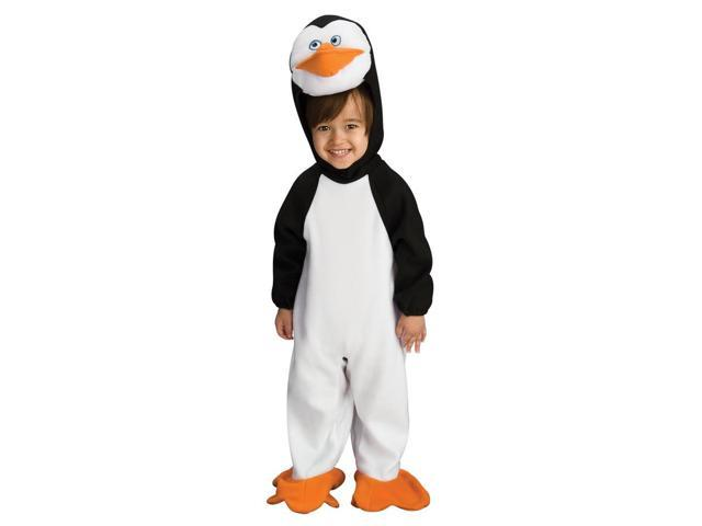 Penguins Of Madagascar Penguin Romper Kowalski Costume Baby 0-6 Months